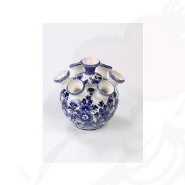 Delfts Blauw Vaas.Delft Blauwe Vaas 7 Armen Bloemen
