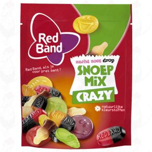 Red Band Zacht Zoet Drop Snoepmix Crazy 295g