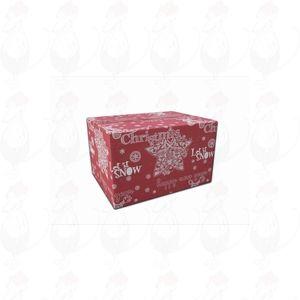 Verzenddoos / Geschenkverpakking Kerst rood