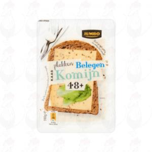 Gesneden kaas  Belegen Komijn Goudse kaas 48+ | 190 gram in plakken