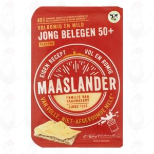 Gesneden kaas Maaslander kaas Jong Belegen 50+ | 175 gram in plakken