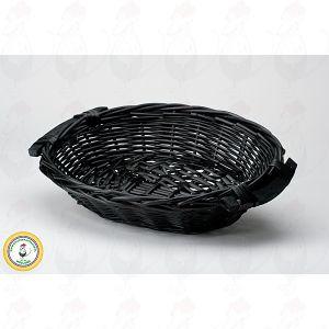 Kaasmand Zwart 38x28x8