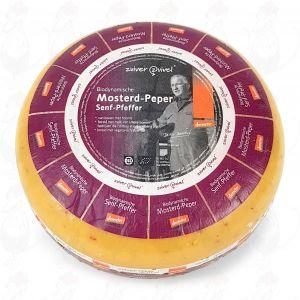 Mosterd peper Goudse Biologisch dynamische kaas - Demeter | Hele kaas 5 kilo