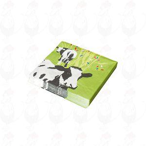 Servetten Groen met koe  (20 stuks)