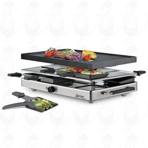 Spring - Raclette8 classic aluminium grillplaat