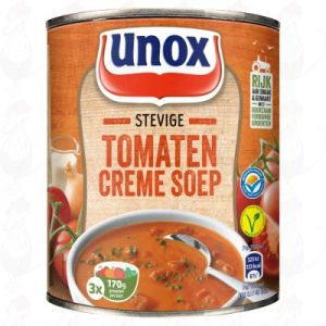 Unox Soep in Blik Stevige Tomatensoep Crème 3 Porties 800ml