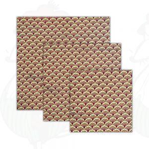 3-Pak | Kaasdoek Kiwi - Bijenwasdoek - Dooek | 20x20 * 25x25 * 30x30 cm