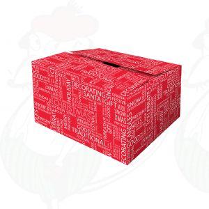 Verzenddoos / Geschenkverpakking Kerst rood wensen