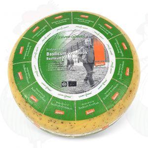 Kruidenkaas basilicum-knoflook Goudse Biologisch dynamische kaas - Demeter | Hele kaas 5 kilo
