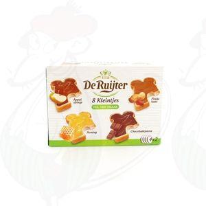 De Ruijter 8 kleintjes met appelstroop, pindakaas, honing, chocoladepasta