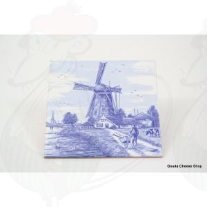 Delft Blauwe Tegel Boer met kruiwagen