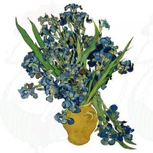 Van Gogh Irissen Raamsticker - Flat Flower - 30 x 37 cm