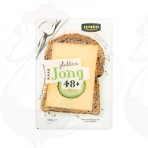 Gesneden kaas  Goudse Kaas 48+ Jong | 190 gram in plakken