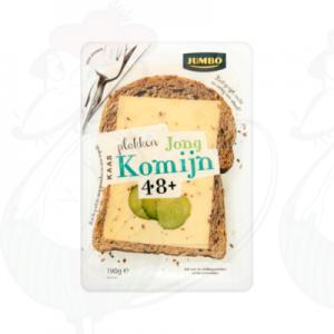 Gesneden kaas  Goudse Kaas 48+ Jong Komijn | 190 gram in plakken