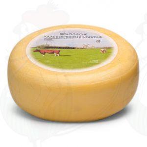 Jong Belegen Biologische Kaas Kinderdijk | Extra Kwaliteit | Hele kaas 5,4 kilo