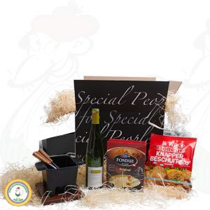 Gevarieerd tapas fondue geschenkpakket - Black