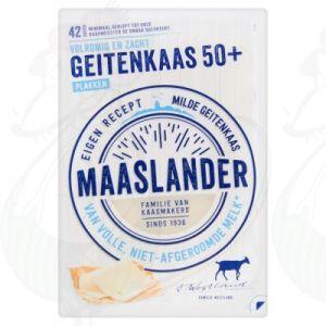 Gesneden kaas Maaslander Geitenkaas 50+ | 140 gram in plakken