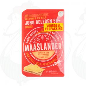Gesneden kaas Maaslander kaas Jong Belegen 50+ | 350 gram in plakken
