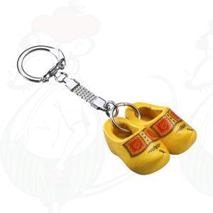 Sleutelhanger met 2 Gele Klompjes