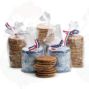 10 Verse Goudse Stroopwafels in Oud Hollands blik.